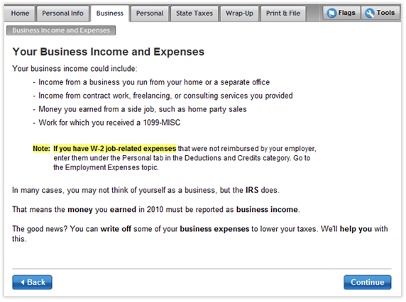 Find business tax deductions