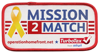 TurboTax Mission2Match Donations to Operation Homefront