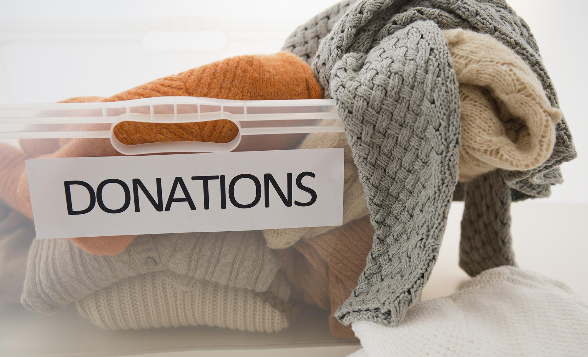 Donations bin