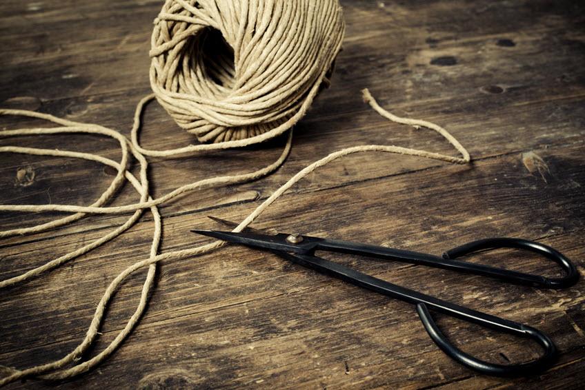 Hemp fiber string