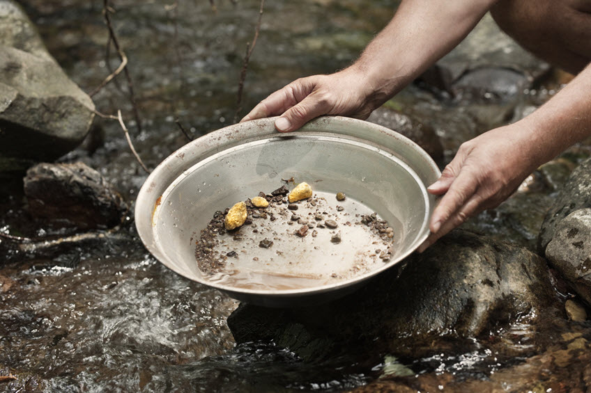 Panning for gold and silver