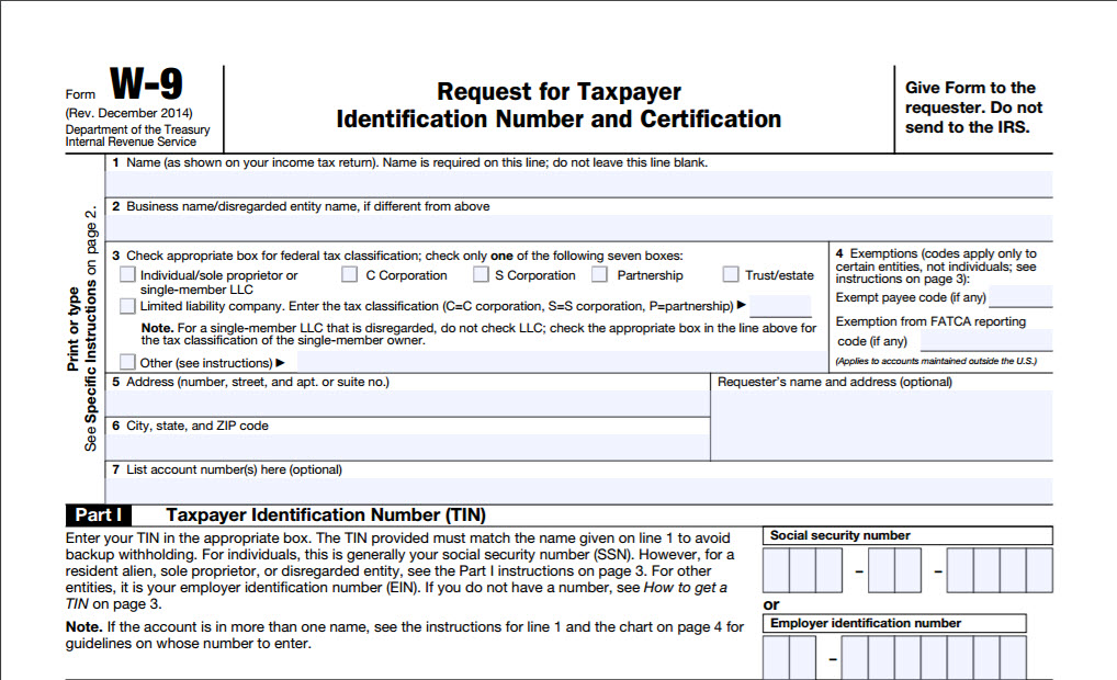 ... form W-9, Request for Taxpayer Identification Number and Certification