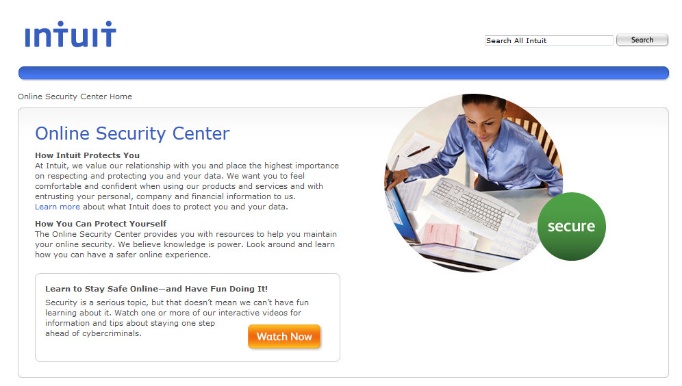 TurboTax Online Security Center