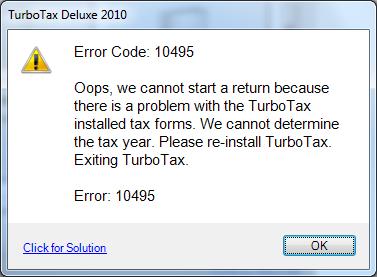 Error Code 10495